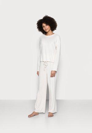 DRAW CORD CREW WIDE LEG PANT - Pyjama set - oatmeal marle