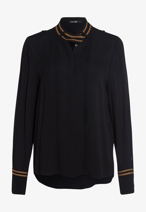 Button-down blouse - black varied