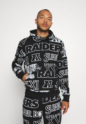 NFL HOODY OAKLAND RAIDERS - Hoodie - black