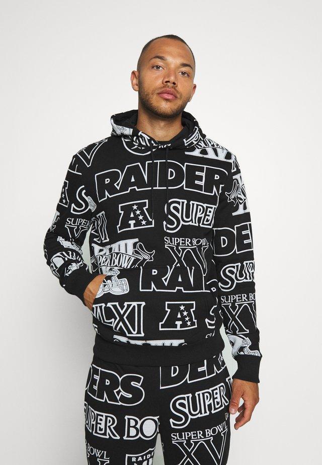 NFL HOODY OAKLAND RAIDERS - Jersey con capucha - black
