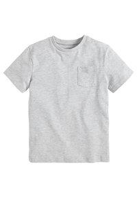 Next - Basic T-shirt - mottled grey - 0