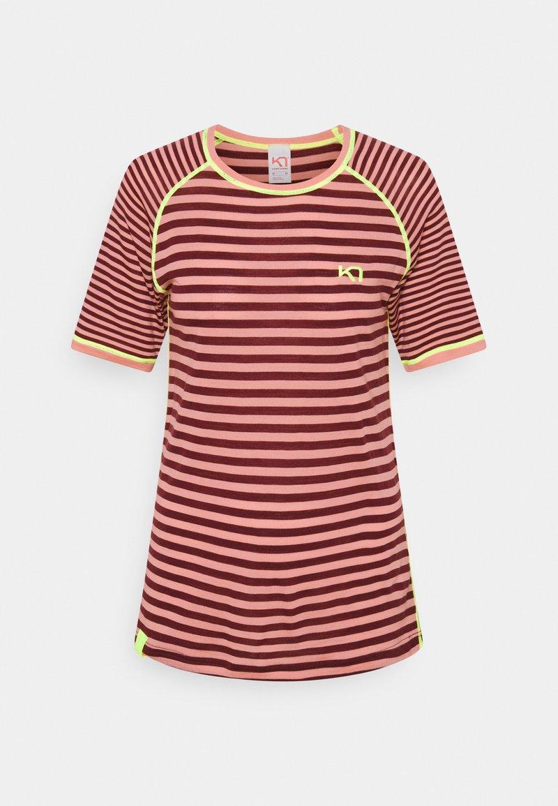 Kari Traa - SMALE TEE - Print T-shirt - bordeaux
