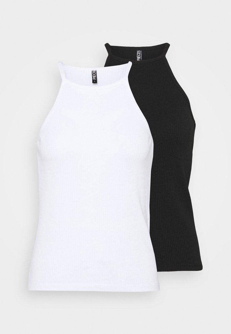Pieces - PCARDENA STRAP 2 PACK - Top - black/white