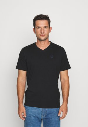 V NECK - T-shirts basic - black