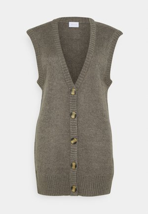 VIHIMA LONG VEST - Strikjakke /Cardigans - tigers eye
