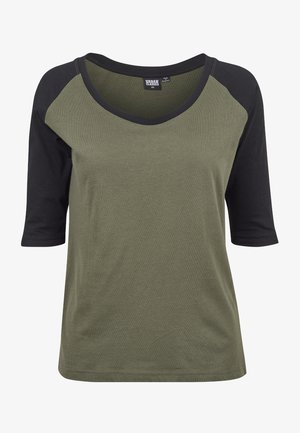 T-shirt con stampa - olive/black