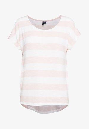 VMWIDE STRIPE TOP  - T-shirt print - sepia rose/snow white