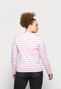 Pieces Curve - PCRIA NEW TEE - Long sleeved top - bright white/pastel lavender - 2