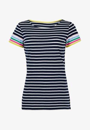 BRETON - Print T-shirt - regenbogenbündchen