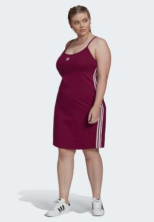 SPAGHETTI STRAP DRESS (PLUS SIZE) - Sports dress - burgundy