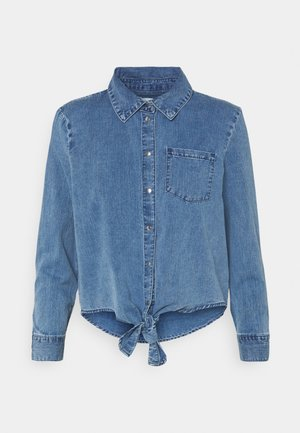 ONLLECEY KNOT - Skjorte - medium blue denim