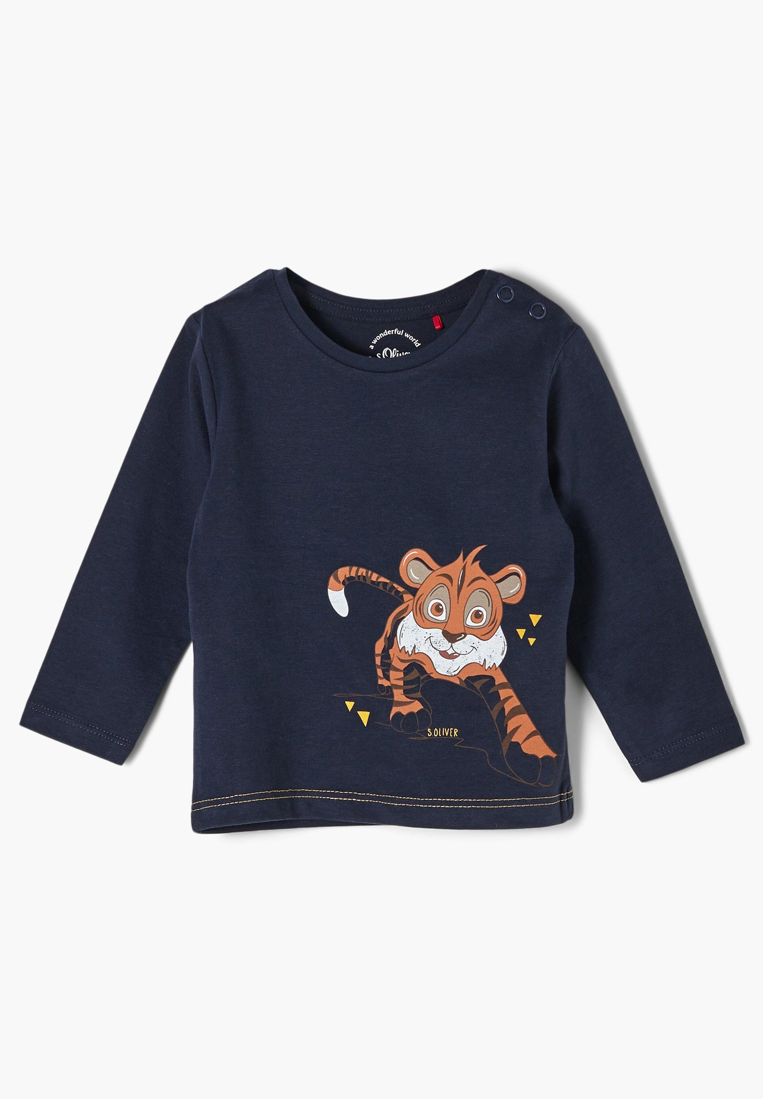Kinder MIT FRONTPRINT - Langarmshirt
