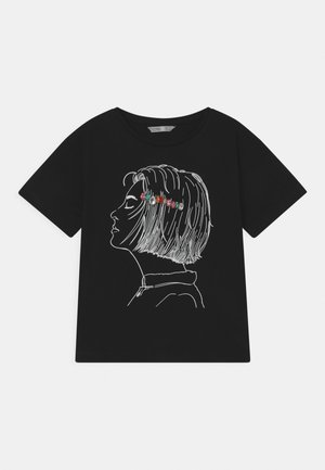 JILLIAN - Print T-shirt - black