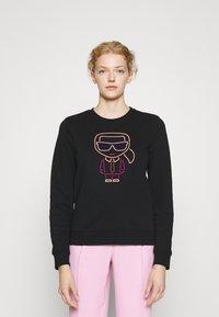 KARL LAGERFELD - KARL IKONIK OUTLINE - Sweatshirt - black - 0