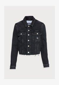 CROPPED 90S JACKET - Džínová bunda - black