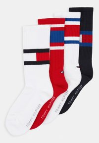 Tommy Hilfiger - FLAG 4 PACK - Socks - midnight blue/white - 0