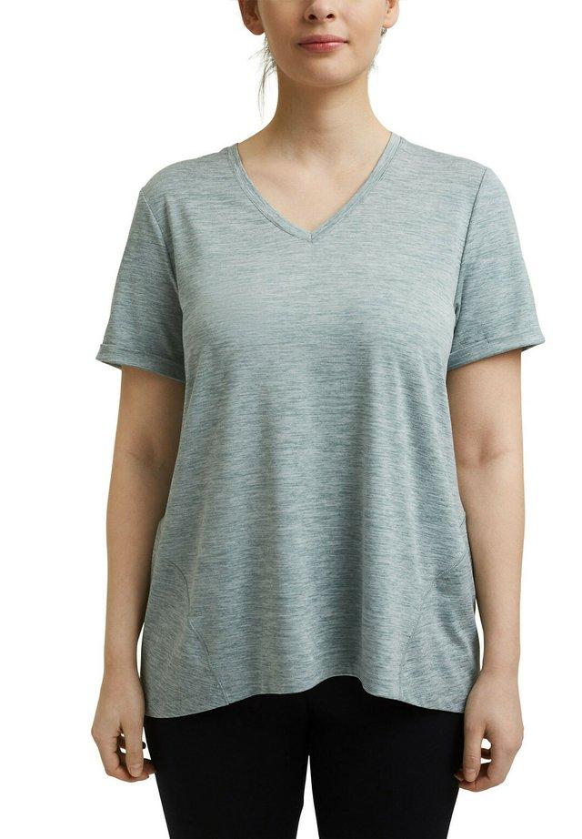 CURVY MELANGE - T-shirt basique - dusty green