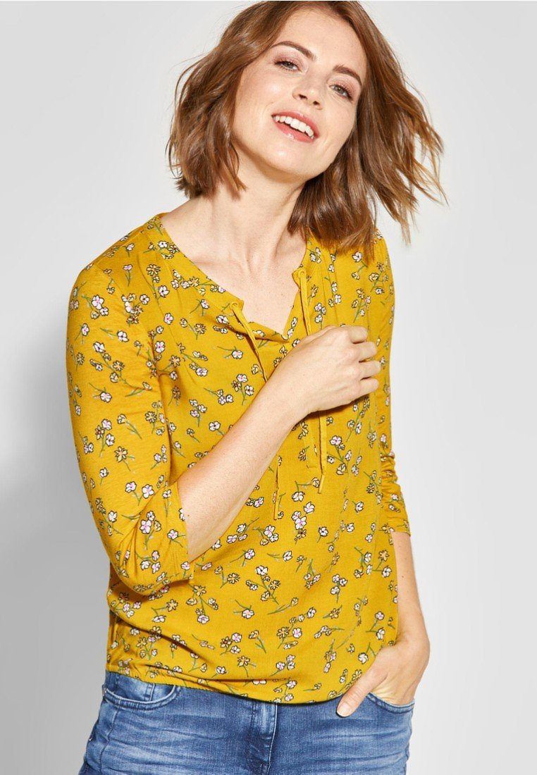 Cecil - MIT BLUMENPRINT  - Blouse - yellow