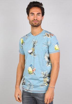 T-shirt print - pebble blue