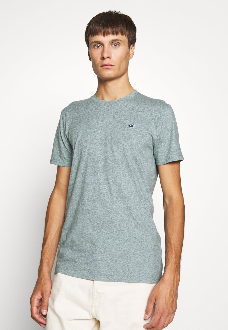 Hollister Co. - CREW - T-shirt z nadrukiem - sage