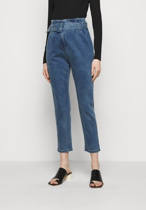 BROOKLYN PAPERBAG PANTS - Straight leg jeans - blue denim