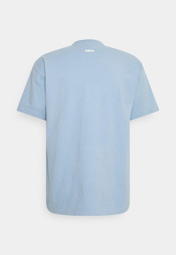 Obey Clothing HERS - T-shirt z nadrukiem - light blue/jasnoniebieski Odzież Męska GGKR