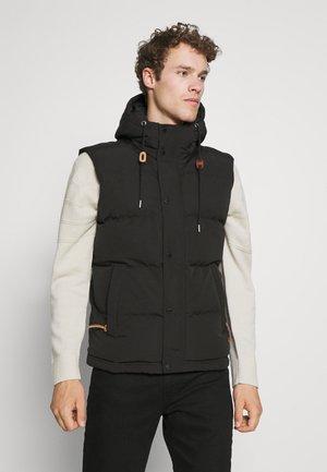 HOODED EVEREST GILET - Waistcoat - black