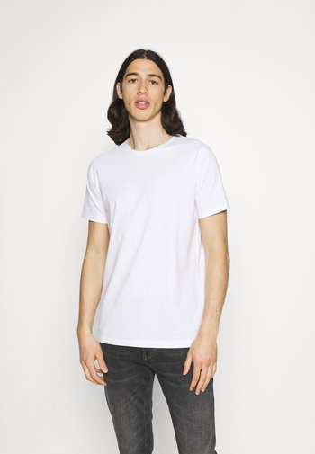 JERMANE 3 PACK - T-shirt - bas - white/white/white