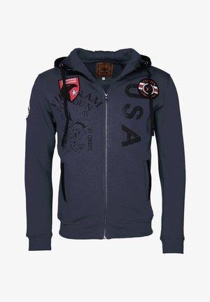 MIT KAPUZE PRINTER - Zip-up sweatshirt - navy