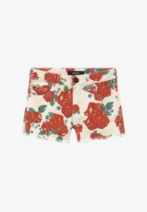 Shorts vaqueros - white/red