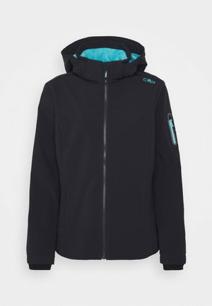 WOMAN JACKET ZIP HOOD - Soft shell jacket - antracite