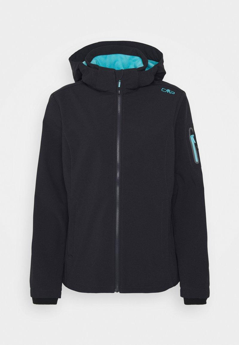 CMP - WOMAN JACKET ZIP HOOD - Soft shell jacket - antracite