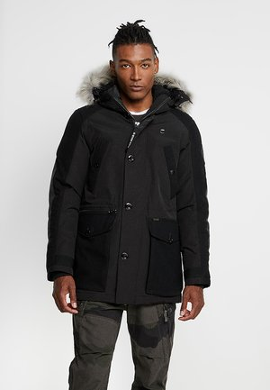 VODAN PADDED HOODED - Parka - dark black