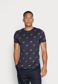Brave Soul - REGGIE - Print T-shirt - navy - 0