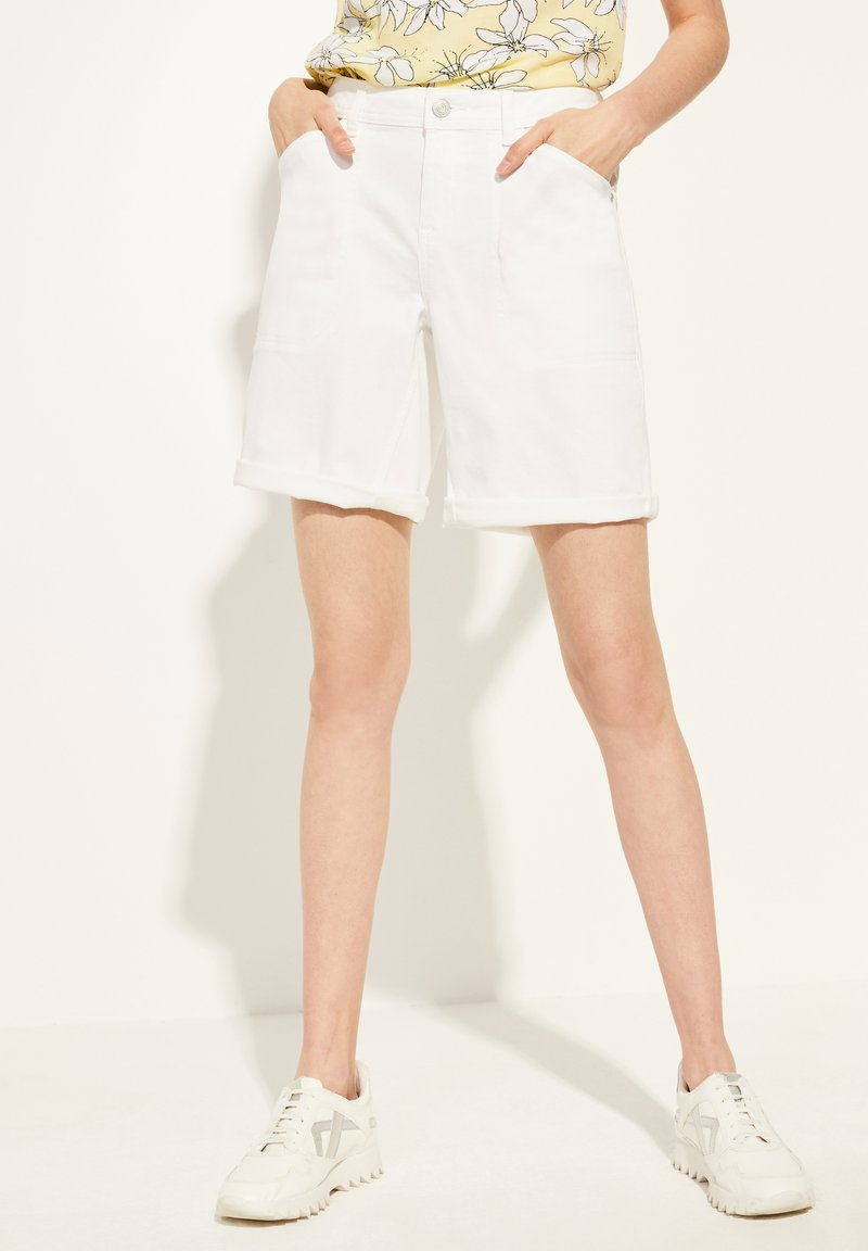 comma casual identity - Denim shorts - white