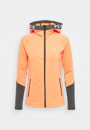 RIDER ZIP HOOD - Fleecová bunda - light orange