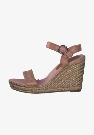 Wedge sandals - soothing pink