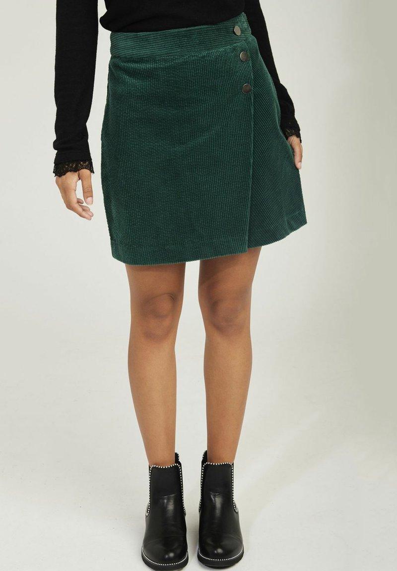 NAF NAF - A-line skirt - green