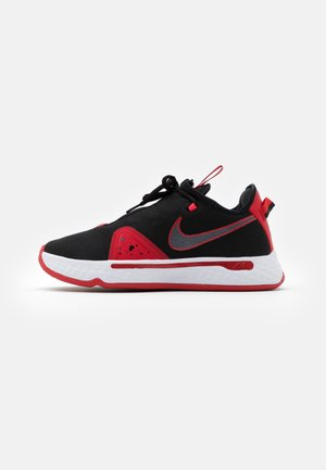 PG 4 - Basketball shoes - black/university red/white
