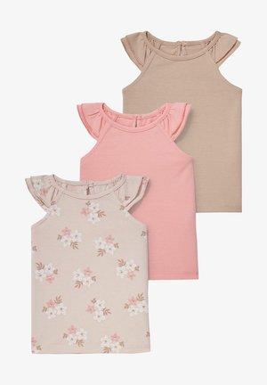 3 PACK - Print T-shirt - coral