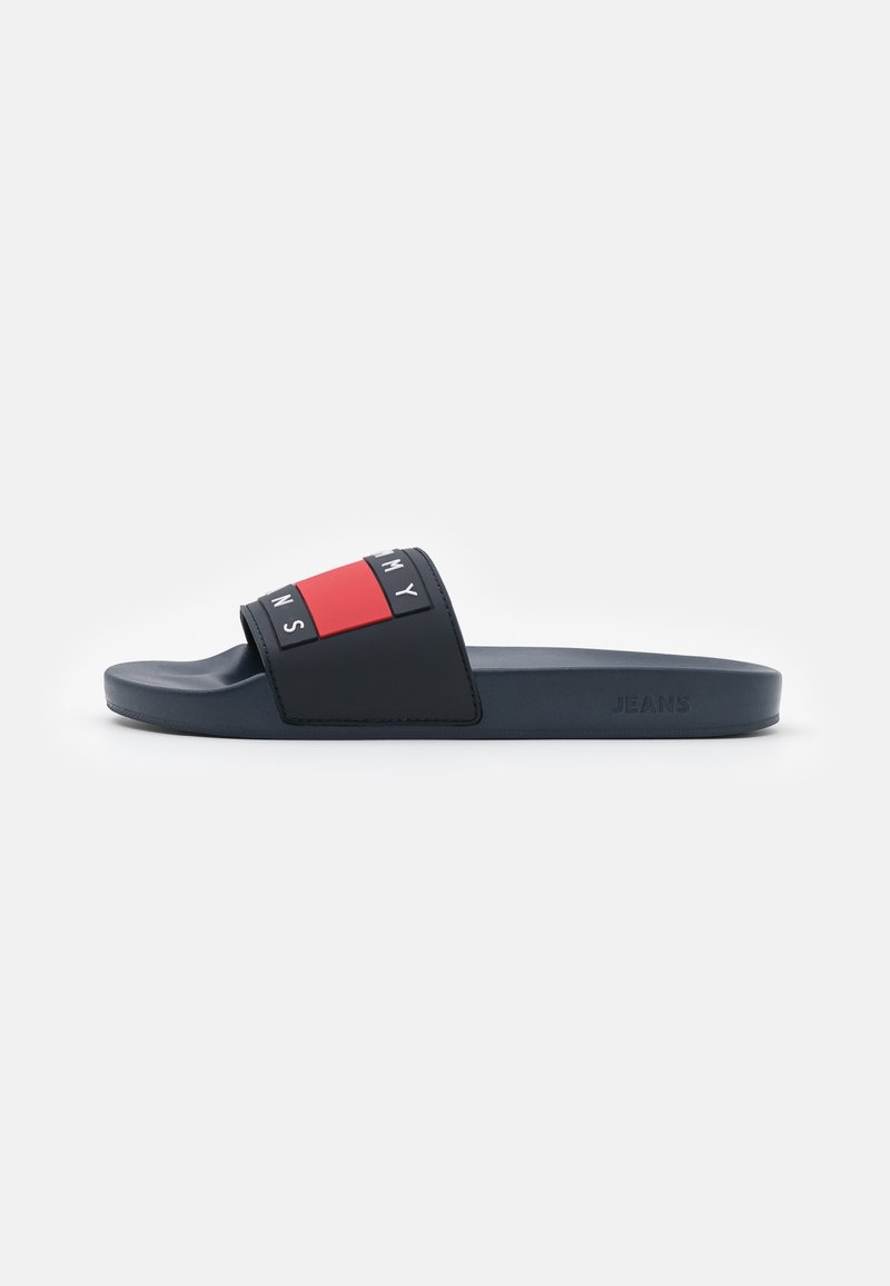 Tommy Jeans - FLAG POOL SLIDE - Slip-ins - twilight navy