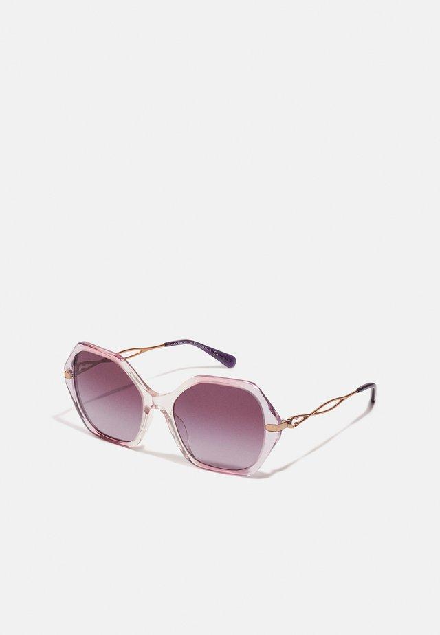 Sonnenbrille - gradient transparent violet