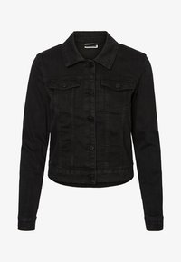 Noisy May - NMDEBRA L/S DENIM JACKET - Džínová bunda - black - 3