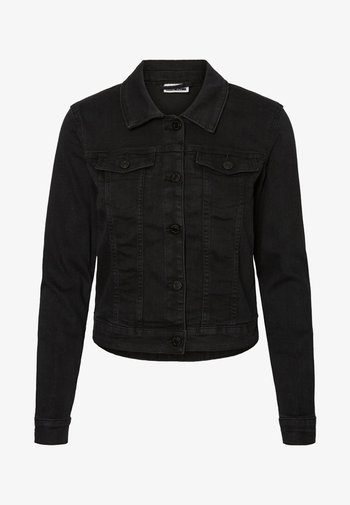 NMDEBRA L/S DENIM JACKET - Jeansjakke - black