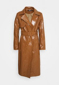 Missguided - CROC BELTED MAXI - Trenchcoat - tan - 0