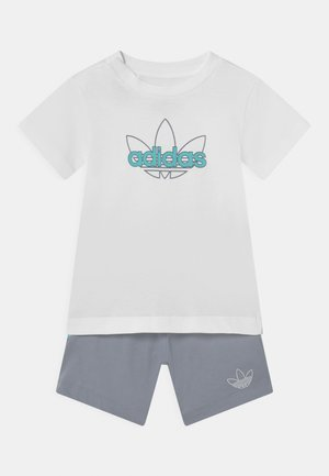 SET UNISEX - Shorts - white/turquoise