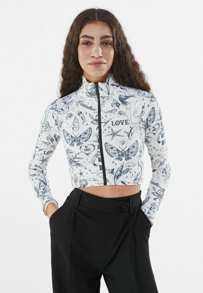 Bershka - MIT REISSVERSCHLUSS  - Training jacket - stone