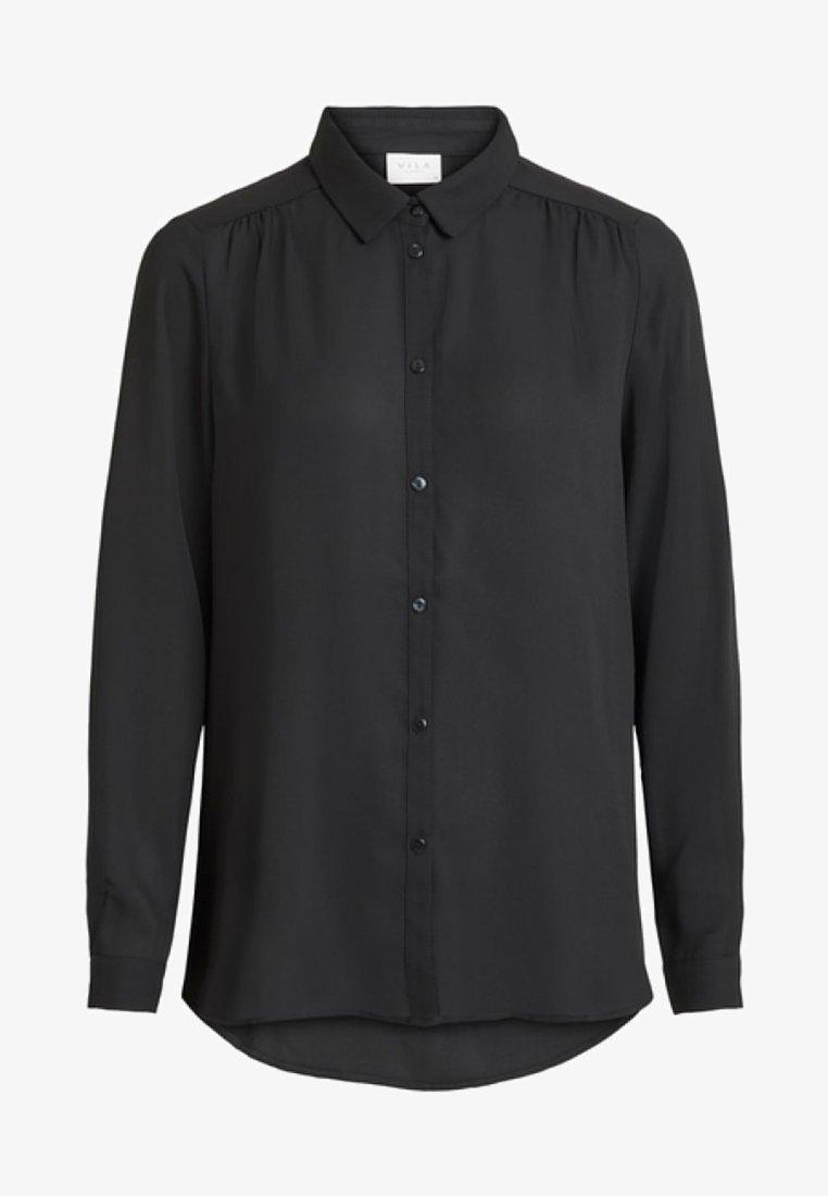 Vila - Button-down blouse - black