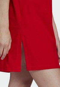 adidas Originals - TEE DRESS - Jersey dress - red - 5