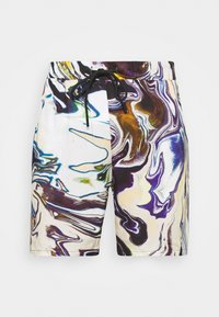 Vintage Supply - PULL ON IN TRIPPY OIL SLICK PRINT UNISEX - Shorts - multi coloured - 3